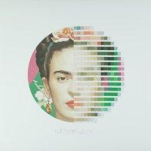 2+Frida+Kahlo+tondo+2+2017+Collage+on+paper+H90cm+x+W90cm