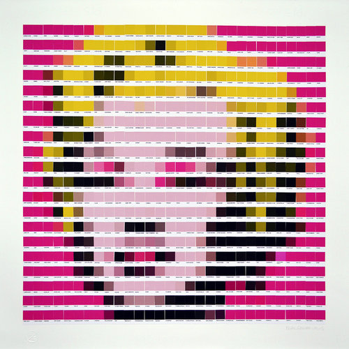 4+Marilyn+Pink+2015+Collage+on+paper+H71cm+x+W70cm