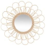 Miroir fleur en rotin D56 25 €
