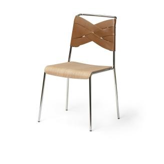 chaise-torso-design-house-stockholm-cuir-cognac-chene